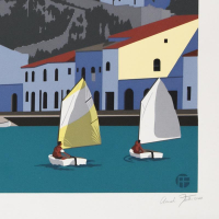 """Armond Fields Signed """"Andalusian Holiday"""" Limited Edition 34x25 Hand Pulled Original Serigraph at PristineAuction.com"""