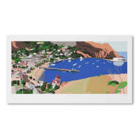 """Armond Fields Signed """"Avalon Harbor"""" Limited Edition 40x21 Hand Pulled Original Serigraph (PA LOA) at PristineAuction.com"""