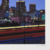 """Armond Fields Signed """"Downtown"""" Limited Edition 32x23 Hand Pulled Original Serigraph at PristineAuction.com"""