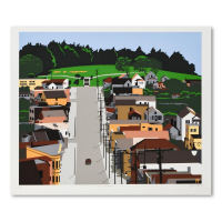 """Armond Fields Signed """"Old Neighborhood"""" Limited Edition 31x26 Hand Pulled Original Serigraph at PristineAuction.com"""
