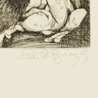 """Charles Bragg Signed """"And He Saw That it Was Good"""" Limited Edition 15x11 Etching at PristineAuction.com"""