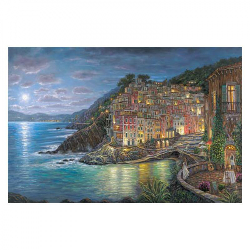 """Robert Finale Signed """"Awaiting Riomaggiore"""" Artist Embellished AP Limited Edition 24x36 Giclee on Canvas at PristineAuction.com"""