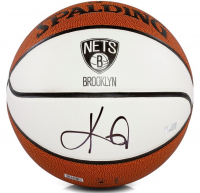 Kyrie Irving Signed Nets Logo Basketball (Panini COA) at PristineAuction.com