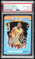 Magic Johnson Signed 1990-91 Fleer All-Stars #4 (PSA Encapsulated) at PristineAuction.com