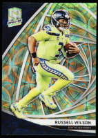 Russell Wilson 2019 Panini Spectra Neon Green #18 at PristineAuction.com