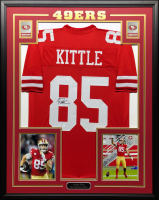 George Kittle Signed 34.5x42.5 Custom Framed Jersey (Beckett COA) at PristineAuction.com