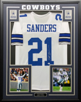 Deion Sanders Signed 34.5x42.5 Custom Framed Jersey (Beckett COA) at PristineAuction.com