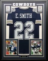 Emmitt Smith Signed 34.5x42.5 Custom Framed Jersey (Beckett COA & PROVA Hologram) at PristineAuction.com