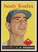 Sandy Koufax 1958 Topps #187 at PristineAuction.com
