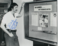 "Ron Blomberg Signed 16x20 Photo Inscribed ""MLB Debut 9/10/69"" , ""1st A.L.D.H"" & "".293 Career BA"" (Steiner Hologram & MLB Hologram) at PristineAuction.com"