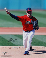 Corey Kluber Signed Indians 16x20 Photo (MLB Hologram & Fanatics Hologram) at PristineAuction.com