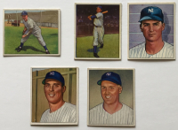 Lot of (5) 1950 Bowman Baseball Cards with #10 Tommy Henrich, #12 Joe Page, #100 Vic Raschi, #47 Jerry Coleman & #101 Bobby Brown at PristineAuction.com