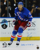 """Kevin Hayes Signed Rangers 16x20 Photo Inscribed """"Saturdays Are For The Boys!"""" (Steiner Hologram & Fanatics Hologram) at PristineAuction.com"""