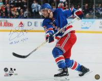 "Kevin Shattenkirk Signed Rangers 16x20 Photo Inscribed ""NYR Debut 10/5/17"" (Steiner Hologram & Fanatics Hologram) at PristineAuction.com"