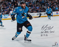 "Barclay Goodrow Signed LE Sharks 16x20 Photo Inscribed ""1st NHL Goal"" & ""12-9-14"" (Fanatics Hologram) at PristineAuction.com"