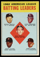 Pete Runnels / Mickey Mantle / Floyd Robinson / Norm Siebern / Chuck Hinton 1963 Topps #2 AL Batting Leaders at PristineAuction.com