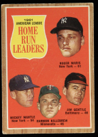 Roger Maris / Mickey Mantle / Jim Gentile / Harmon Killebrew 1962 Topps #53 AL Home Run Leaders at PristineAuction.com