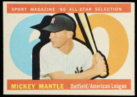 Mickey Mantle 1960 Topps #563 All-Star at PristineAuction.com