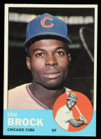 Lou Brock 1963 Topps #472 at PristineAuction.com