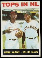 Hank Aaron / Willie Mays 1964 Topps #423 Tops in NL at PristineAuction.com