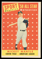 Mickey Mantle 1958 Topps #487 All-Star TP at PristineAuction.com