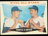 Mickey Mantle / Ken Boyer 1960 Topps #160 Rival All-Stars at PristineAuction.com