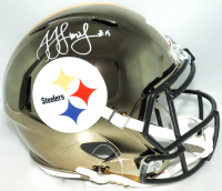 JuJu Smith-Schuster Signed Steelers Full-Size Chrome Speed Helmet (Beckett COA) at PristineAuction.com