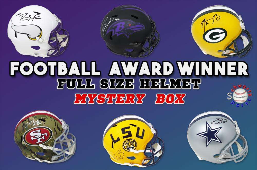Schwartz Sports Football Award Winner Signed Full Size Helmet Mystery Box Series 2 (Limited to 100) at PristineAuction.com