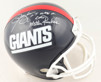 "Lawrence Taylor Signed Giants Full-Size Helmet Inscribed ""LT Was a Bad Motherf*****"" (JSA COA) at PristineAuction.com"