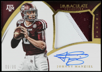 Johnny Manziel 2015 Immaculate Collection Collegiate Multisport Premium Patches Autographs #30 at PristineAuction.com