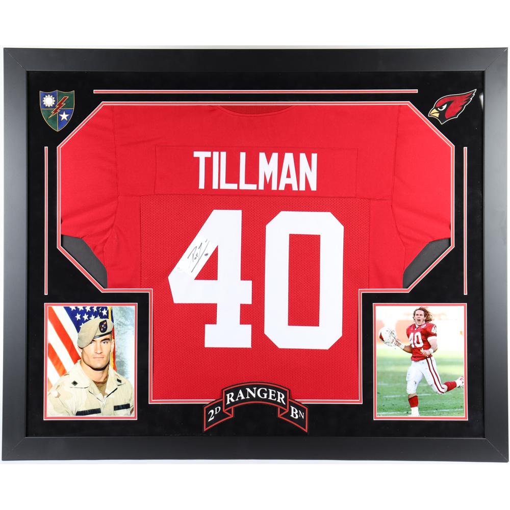 Pat Tillman Signed 36x44 Custom Framed Jersey Display (JSA LOA ...