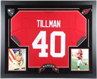 Pat Tillman Signed 36x44 Custom Framed Jersey Display (JSA LOA) at PristineAuction.com