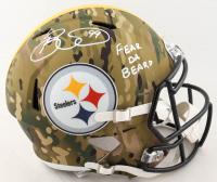 "Brett Keisel Signed Steelers Full-Size Camo Alternate Speed Helmet Inscribed ""Fear Da Beard"" (Beckett COA) at PristineAuction.com"