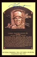 Chipper Jones Signed Hall of Fame Plaque Postcard (PSA COA) at PristineAuction.com