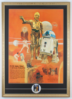 """Star Wars"" Coca-Cola Promotional 21x30 Custom Framed Poster Display with 1977 Original Lapel Pin at PristineAuction.com"