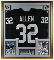 Marcus Allen Signed 33x36 Custom Framed Jersey Display With Super Bowl XVIII Lapel Pin (JSA COA) at PristineAuction.com