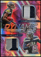 D.K. Metcalf / Tyler Lockett 2020 Panini Spectra Dynamic Duos Materials Neon Pink #11 at PristineAuction.com
