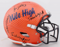 Drew Lock Signed Full-Size Authentic On-Field Hydro Dipped Helmet With Multiple Inscriptions (JSA Hologram) at PristineAuction.com