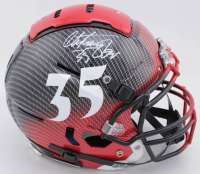 Christian Okoye Signed Full-Size Authentic On-Field Hydro-Dipped F7 Helmet (JSA COA) at PristineAuction.com