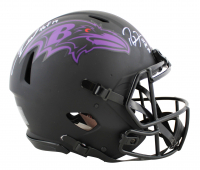 """Ray Lewis & Ed Reed Signed Ravens Full-Size Authentic On-Field Eclipse Alternate Speed Helmet Inscribed """"HOF '18"""" (Beckett COA) at PristineAuction.com"""
