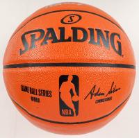 Larry Bird & Magic Johnson Signed NBA Game Ball Series Basketball (Beckett COA) at PristineAuction.com