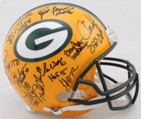 Super Bowl XXXI Champions Packers LE Full-Size Authentic On-Field Helmet Team-Signed by (23) With Brett Favre, Ron Wolf, Leroy Butler, Gilbert Brown, Antonio Freeman, Mark Chmura with Inscriptons (Radtke COA) at PristineAuction.com