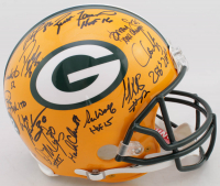 Packers Super Bowl XXXI Champions LE Full-Size Authentic On-Field Helmet Team-Signed by (23) With Brett Favre, Ron Wolf, Leroy Butler, Gilbert Brown, Antonio Freeman, Mark Chmura with Inscriptons (Radtke COA) at PristineAuction.com