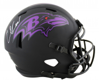 Ed Reed Signed Ravens Full-Size Eclipse Alternate Speed Helmet (Beckett COA) at PristineAuction.com