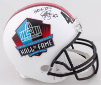 "Troy Polamalu Signed Pro Football Hall of Fame Full-Size Helmet Inscribed ""HOF 20"" (Beckett COA) at PristineAuction.com"