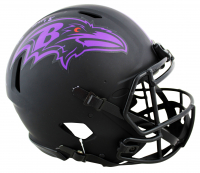"""Ray Lewis Signed Ravens Full-Size Authentic On-Field Eclipse Alternate Speed Helmet Inscribed """"HOF '18"""" (Beckett COA) at PristineAuction.com"""