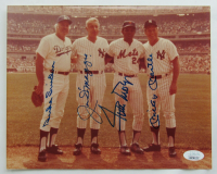 Mickey Mantle, Joe DiMaggio, Willie Mays & Duke Snider Signed 8x10 Photo (JSA LOA) at PristineAuction.com