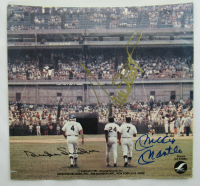 "Mickey Mantle, Willie Mays & Duke Snider Signed ""Talkin' Baseball"" Record Sleeve (JSA LOA) at PristineAuction.com"