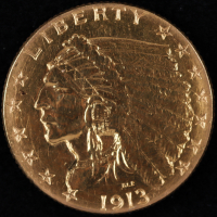 1913 $2.5 Indian Head Quarter Eagle Gold Coin at PristineAuction.com