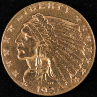 1927 $2.5 Indian Head Quarter Eagle Gold Coin at PristineAuction.com